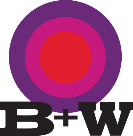 B + W